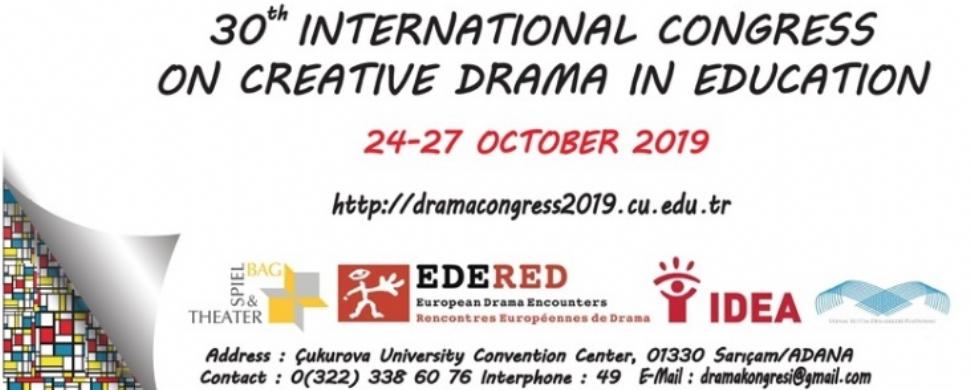 30. Uluslararası Eğitimde Yaratıcı Drama Kongresi