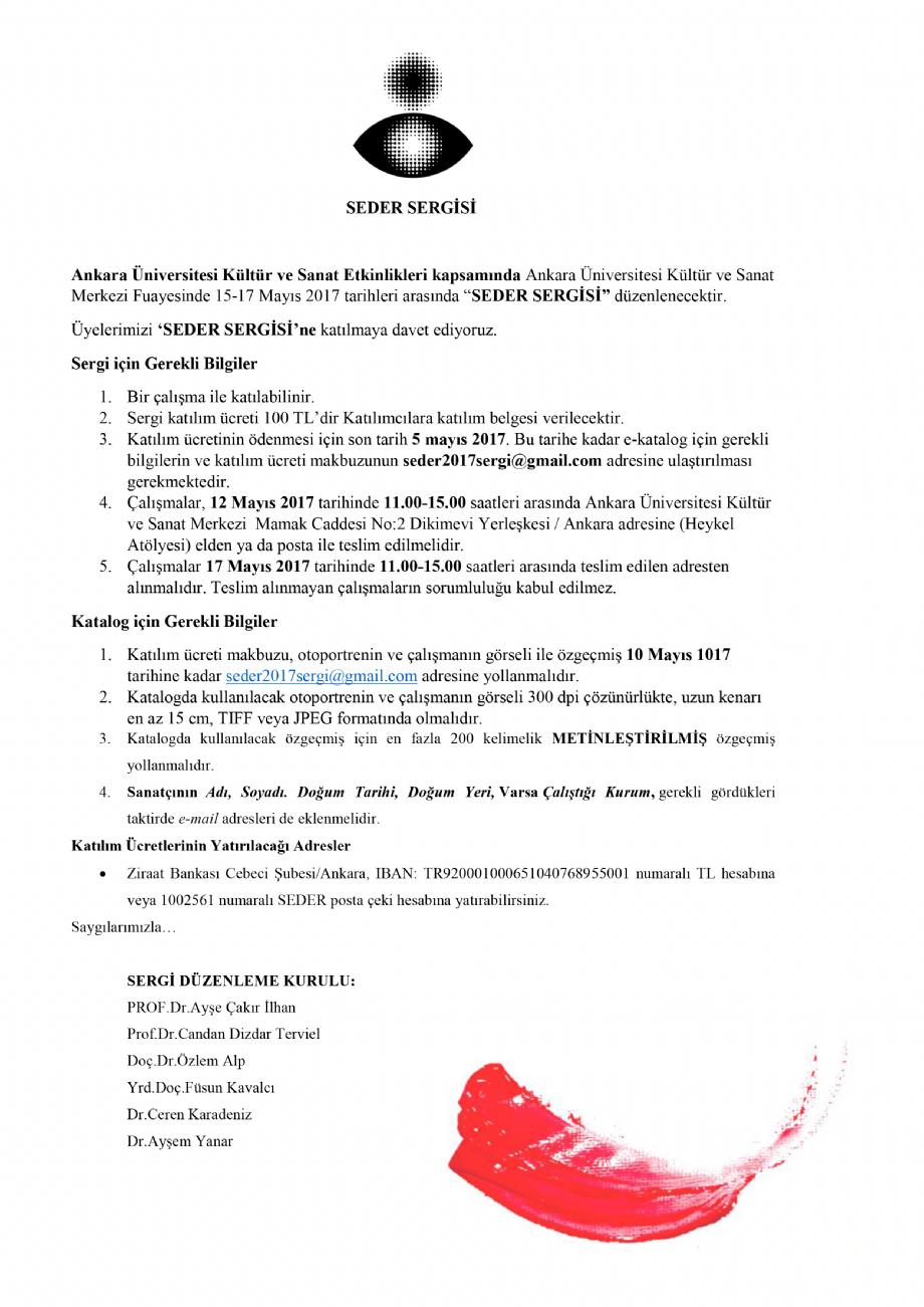 SederÜyeleri Sergisi 2017 - Seder - Sanat Egitimcileri Derneği
